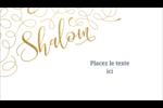 Hanoukka étincelante Cartes d'affaires - gabarit prédéfini. <br/>Utilisez notre logiciel Avery Design & Print Online pour personnaliser facilement la conception.