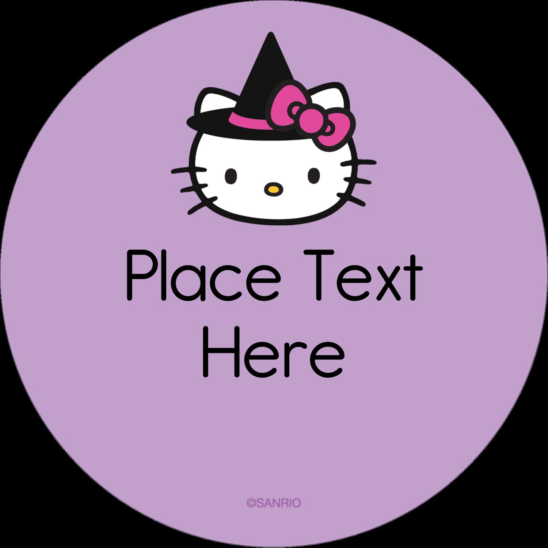 "2½"" Round Label - Hello Kitty Halloween"