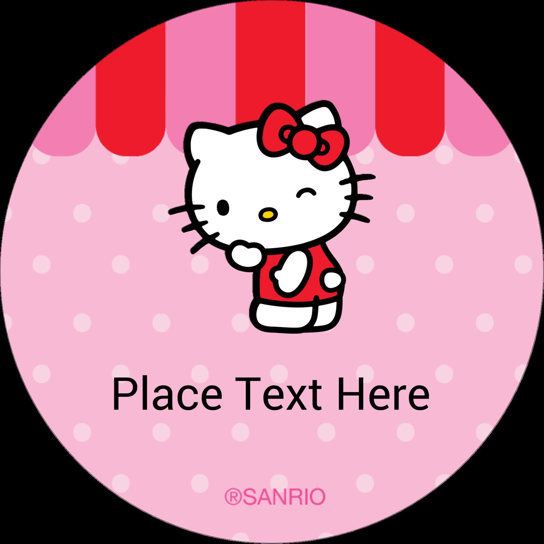 "2"" Round Label - Sweet Hello Kitty"