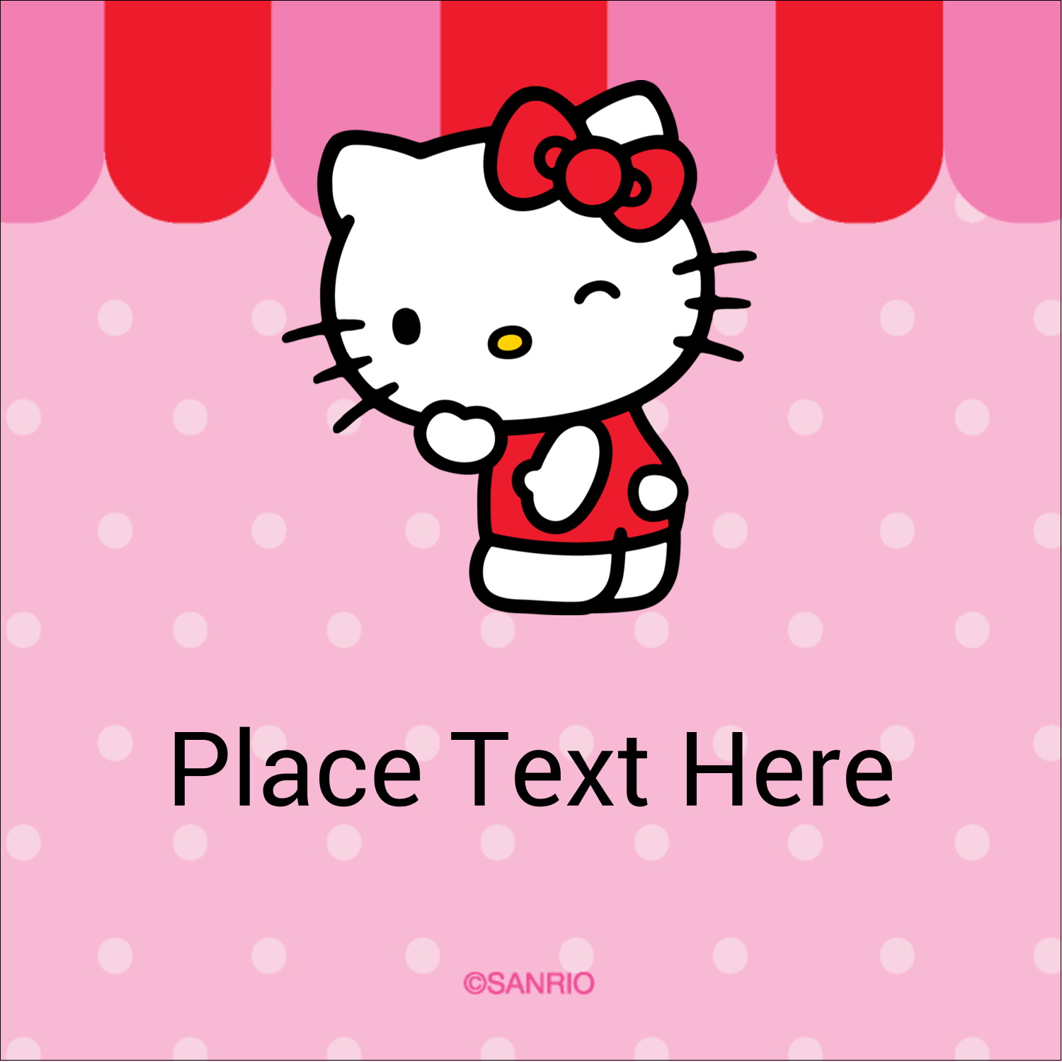 "2"" x 2"" Square Label - Sweet Hello Kitty"