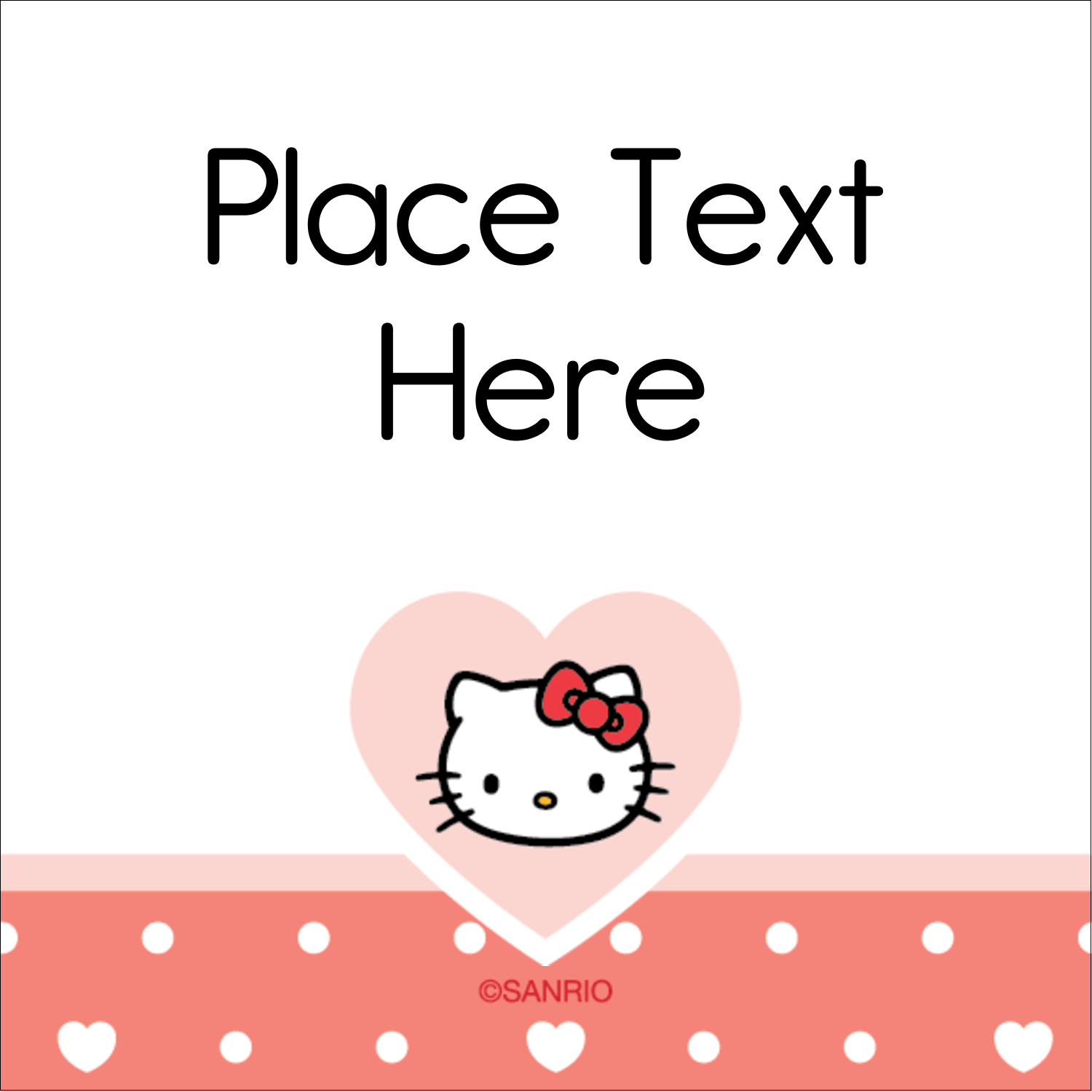 "2"" x 2"" Square Label - We love Hello Kitty"