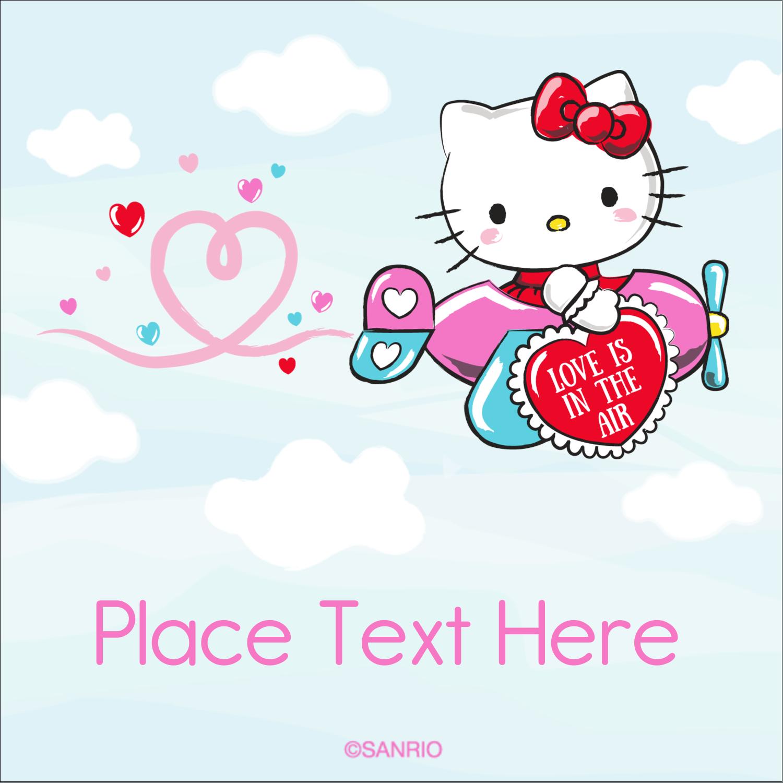 "2"" x 2"" Square Label - Hello Kitty Valentine – You Make My Heart Soar"