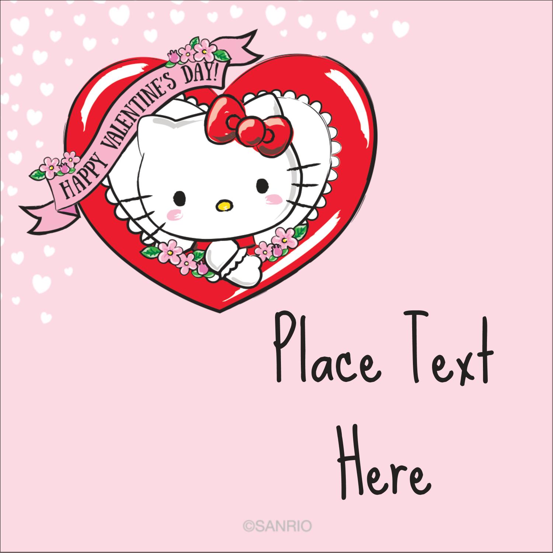 """2"""" x 2"""" Square Label - Hello Kitty Valentine"""