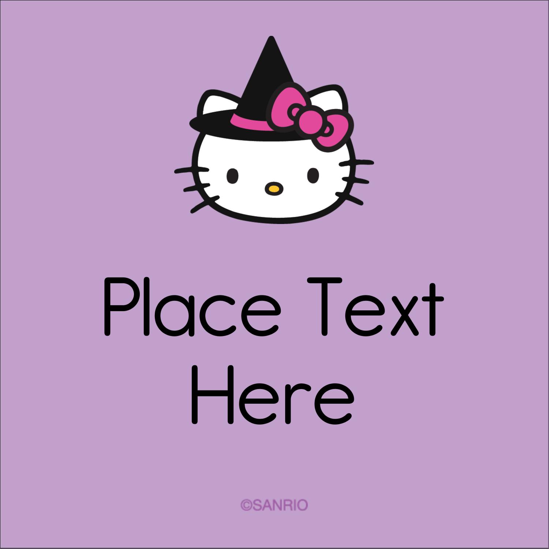 "2"" x 2"" Square Label - Hello Kitty Halloween"