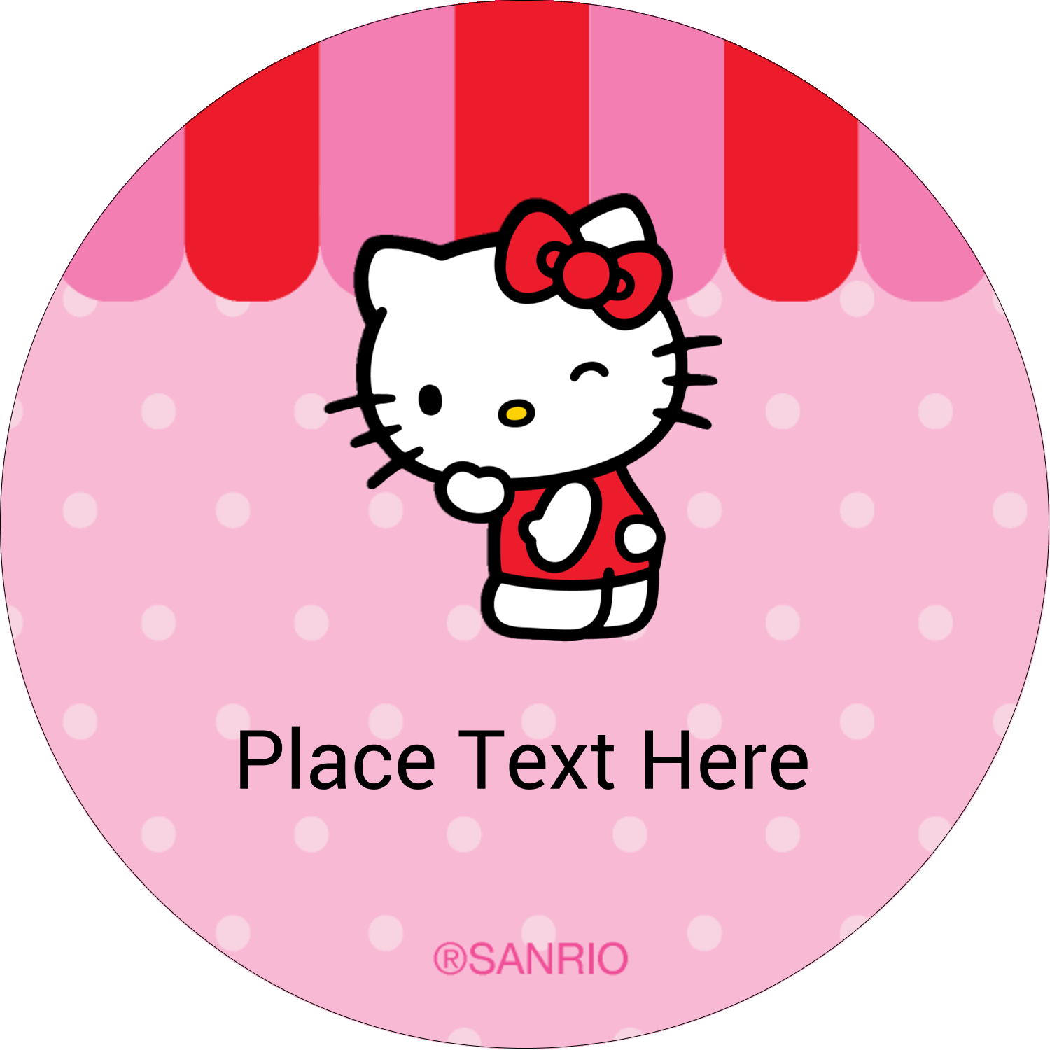 "2½"" Round Label - Sweet Hello Kitty"