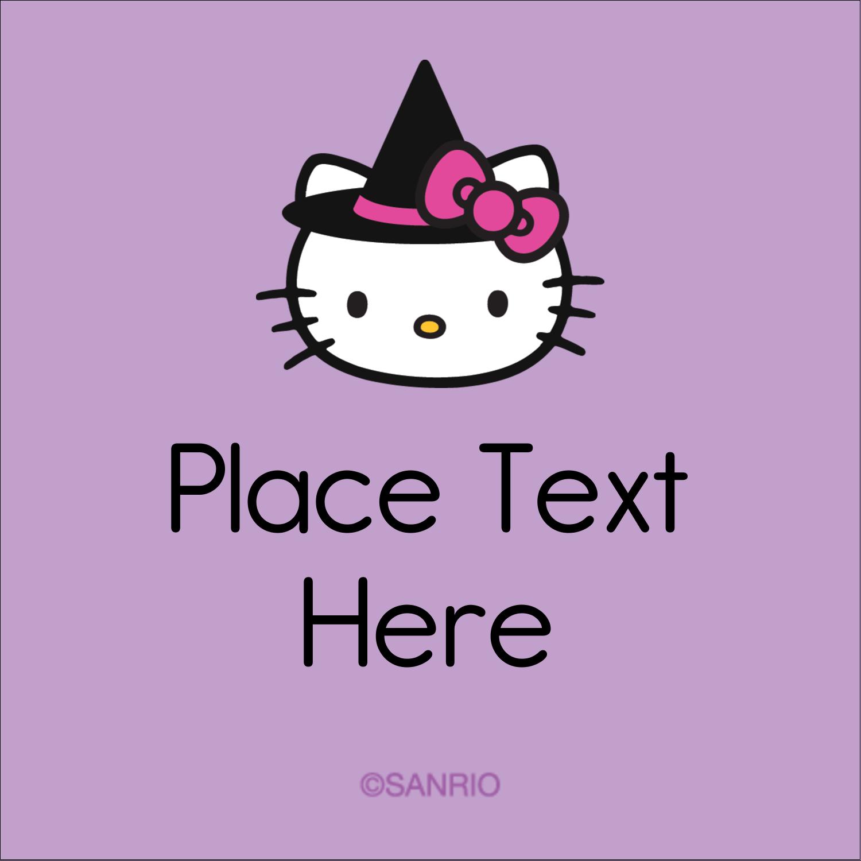 "1½"" x 1½"" Square Label - Hello Kitty Halloween"