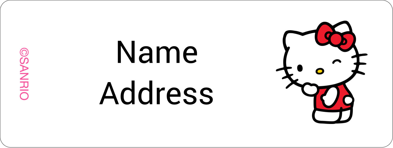 "⅔"" x 1¾"" Address Label - Sweet Hello Kitty"
