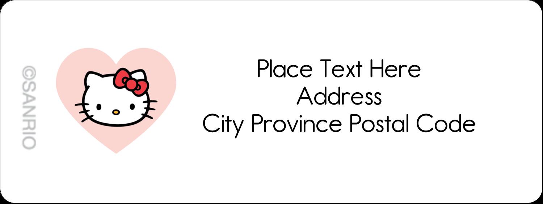 "⅔"" x 1¾"" Address Label - We love Hello Kitty"