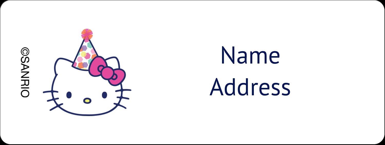 "⅔"" x 1¾"" Address Label - Hello Kitty Birthday"