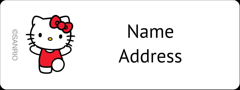 """⅔"""" x 1¾"""" Address Label - Oh Happy Day!"""