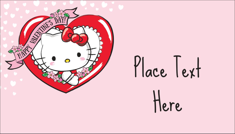 "2"" x 3½"" Business Card - Hello Kitty Valentine"