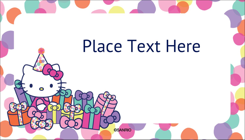 "2"" x 3½"" Business Card - Hello Kitty Birthday"
