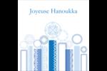 Chandelier bleu de Hanoukka  Étiquettes carrées - gabarit prédéfini. <br/>Utilisez notre logiciel Avery Design & Print Online pour personnaliser facilement la conception.