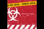 Apocalypse zombie d'Halloween Étiquettes carrées - gabarit prédéfini. <br/>Utilisez notre logiciel Avery Design & Print Online pour personnaliser facilement la conception.