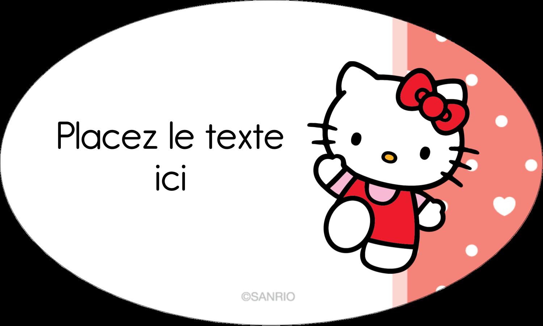 """1½"""" x 1½"""" Étiquettes carrées - Nous aimons Hello Kitty"""