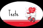 Hello Kitty et Cher Daniel Valentin Étiquettes carrées - gabarit prédéfini. <br/>Utilisez notre logiciel Avery Design & Print Online pour personnaliser facilement la conception.