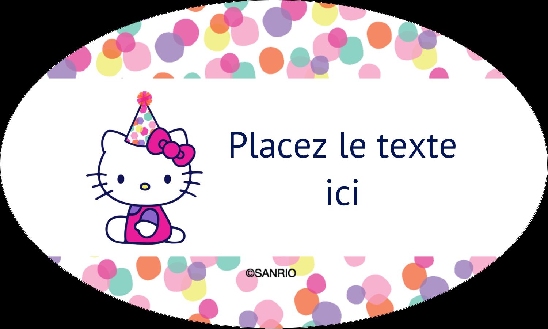 """1½"""" x 1½"""" Étiquettes carrées - Hello Kitty Anniversaire"""
