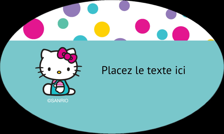 """1½"""" x 1½"""" Étiquettes carrées - Fête Hello Kitty"""