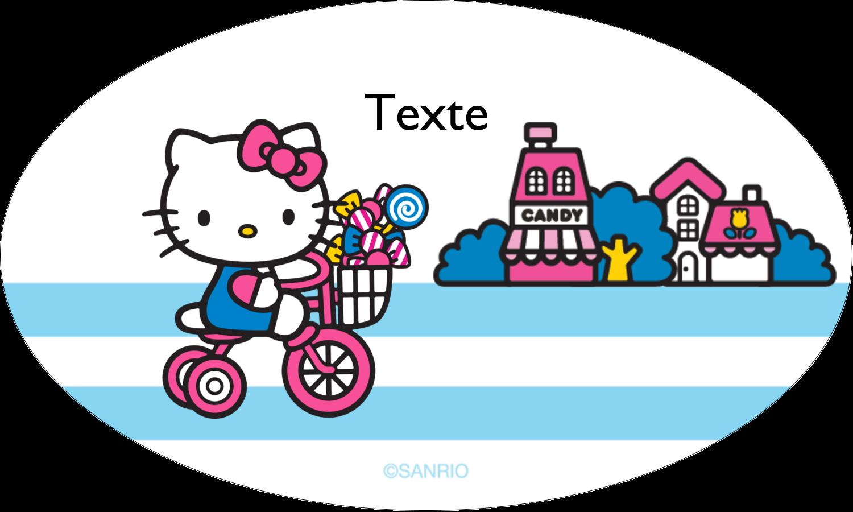 """1½"""" x 1½"""" Étiquettes carrées - Le plus joli vélo"""