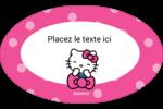 Hello Kitty rigole Étiquettes carrées - gabarit prédéfini. <br/>Utilisez notre logiciel Avery Design & Print Online pour personnaliser facilement la conception.