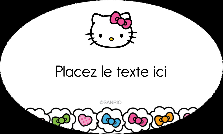 """1½"""" x 1½"""" Étiquettes carrées - Hello Kitty Cœurs et Nœuds"""