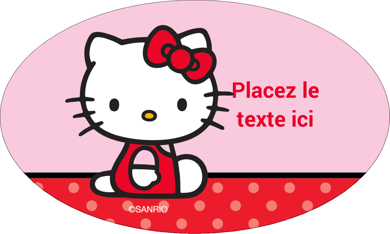 """1½"""" x 1½"""" Étiquettes carrées - Hello Kitty super mignonne"""