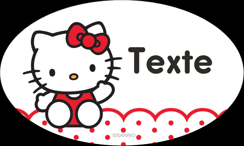 """1½"""" x 1½"""" Étiquettes carrées - Salut Hello Kitty"""