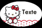 Salut Hello Kitty Étiquettes carrées - gabarit prédéfini. <br/>Utilisez notre logiciel Avery Design & Print Online pour personnaliser facilement la conception.
