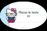 Hello Kitty avec des lunettes Étiquettes carrées - gabarit prédéfini. <br/>Utilisez notre logiciel Avery Design & Print Online pour personnaliser facilement la conception.