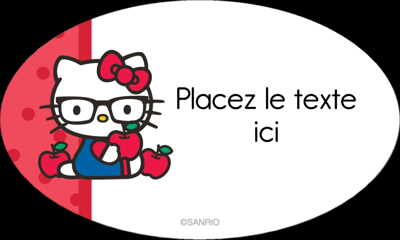 """1½"""" x 1½"""" Étiquettes carrées - Votre Ami Hello Kitty"""