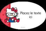 Votre Ami Hello Kitty Étiquettes carrées - gabarit prédéfini. <br/>Utilisez notre logiciel Avery Design & Print Online pour personnaliser facilement la conception.