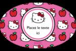Hello Kitty adore les pommes! Étiquettes carrées - gabarit prédéfini. <br/>Utilisez notre logiciel Avery Design & Print Online pour personnaliser facilement la conception.