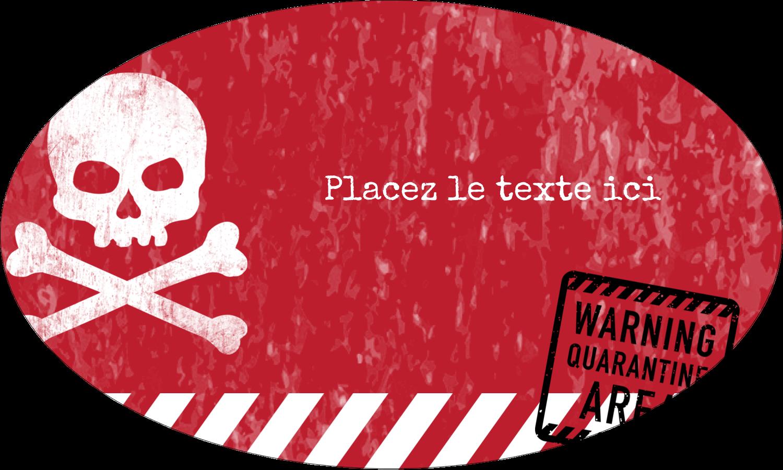 """1½"""" x 1½"""" Étiquettes carrées - Apocalypse zombie d'Halloween"""