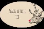 Nez rouge  Étiquettes carrées - gabarit prédéfini. <br/>Utilisez notre logiciel Avery Design & Print Online pour personnaliser facilement la conception.