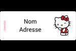 Clin d'œil Hello Kitty Étiquettes D'Adresse - gabarit prédéfini. <br/>Utilisez notre logiciel Avery Design & Print Online pour personnaliser facilement la conception.