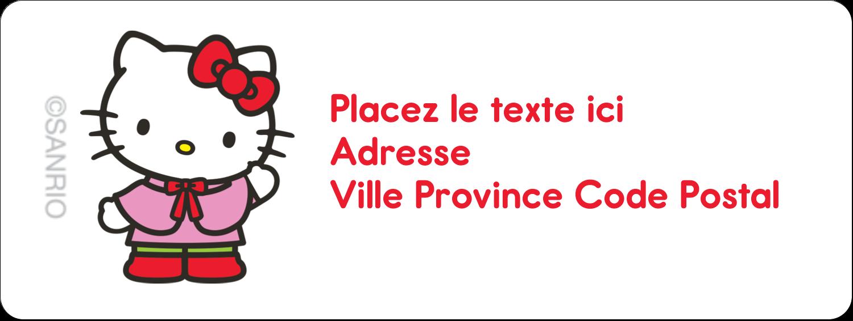 """1½"""" x 4"""" Étiquettes D'Adresse - Hello Kitty Fêtes"""