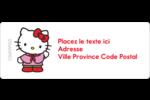 Hello Kitty Fêtes Étiquettes D'Adresse - gabarit prédéfini. <br/>Utilisez notre logiciel Avery Design & Print Online pour personnaliser facilement la conception.