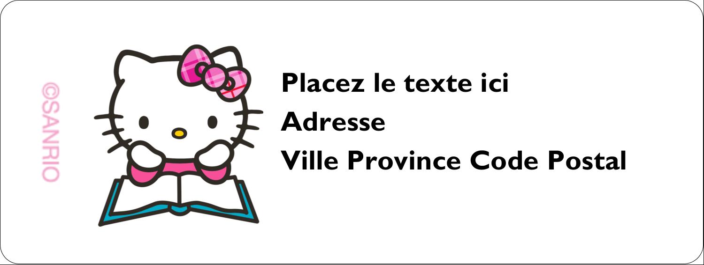 """1½"""" x 4"""" Étiquettes D'Adresse - Temps d'étudier"""