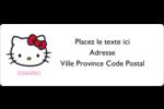 Hello Kitty adore les pommes! Étiquettes D'Adresse - gabarit prédéfini. <br/>Utilisez notre logiciel Avery Design & Print Online pour personnaliser facilement la conception.