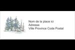 Hiver boisé Étiquettes D'Adresse - gabarit prédéfini. <br/>Utilisez notre logiciel Avery Design & Print Online pour personnaliser facilement la conception.