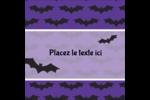 Chauves-souris d'Halloween Étiquettes carrées - gabarit prédéfini. <br/>Utilisez notre logiciel Avery Design & Print Online pour personnaliser facilement la conception.