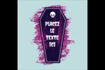 Cercueil d'Halloween Étiquettes carrées - gabarit prédéfini. <br/>Utilisez notre logiciel Avery Design & Print Online pour personnaliser facilement la conception.