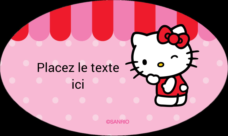 "1½"" x 1½"" Étiquettes carrées - Clin d'œil Hello Kitty"