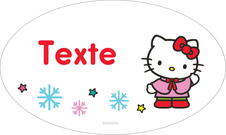 """1½"""" x 1½"""" Étiquettes carrées - Hello Kitty Fêtes"""