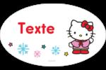 Hello Kitty Fêtes Étiquettes carrées - gabarit prédéfini. <br/>Utilisez notre logiciel Avery Design & Print Online pour personnaliser facilement la conception.
