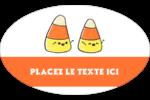 Bonbons de maïs d'Halloween Étiquettes carrées - gabarit prédéfini. <br/>Utilisez notre logiciel Avery Design & Print Online pour personnaliser facilement la conception.