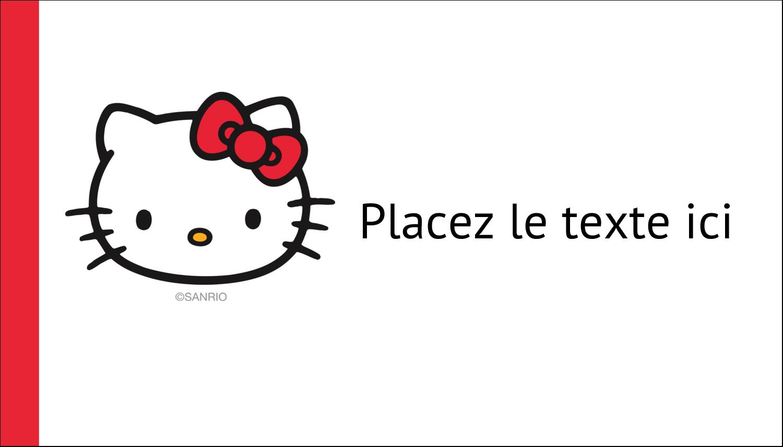 """2"""" x 3½"""" Carte d'affaire - Bonjour Ami!"""