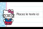 Hello Kitty avec des lunettes Carte d'affaire - gabarit prédéfini. <br/>Utilisez notre logiciel Avery Design & Print Online pour personnaliser facilement la conception.
