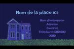 Maison hantée d'Halloween à la craie Carte d'affaire - gabarit prédéfini. <br/>Utilisez notre logiciel Avery Design & Print Online pour personnaliser facilement la conception.