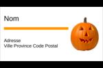 Citrouille d'Halloween Étiquettes Pour Copieurs - gabarit prédéfini. <br/>Utilisez notre logiciel Avery Design & Print Online pour personnaliser facilement la conception.